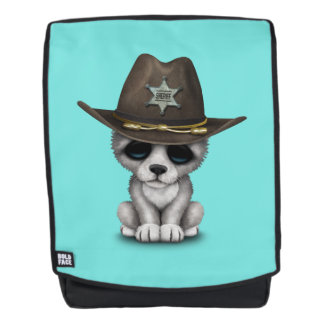 Niedlicher Baby-Wolf-Sheriff Rucksack