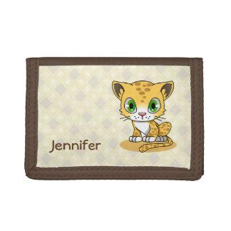 Niedlicher Babyleopardkatzen-Cartoonname scherzt