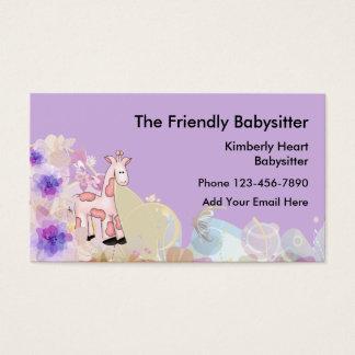 Niedlicher Babysitter Businesscards Visitenkarte