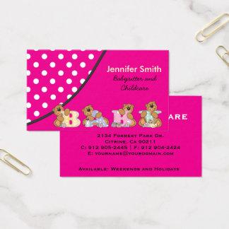 Niedlicher Babysitter oder Kinderbetreuung Visitenkarte