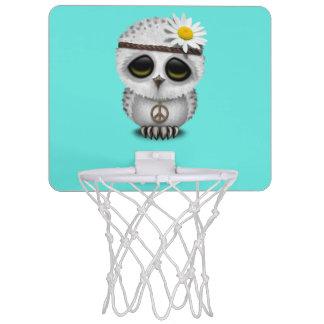 Niedlicher Babysnowy-EuleHippie Mini Basketball Ring