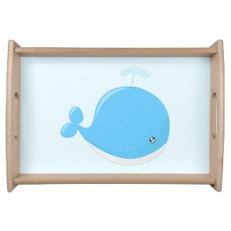 Niedlicher Babywal kawaii Cartoon Tablett