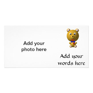 Niedlicher Bär mit Bogen-Krawatte Karte