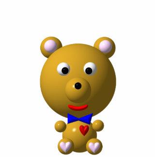 Niedlicher Bär mit bowtie und Herzen! Freistehende Fotoskulptur