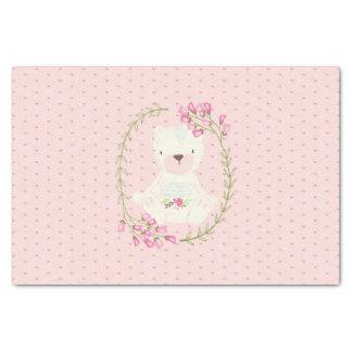 Niedlicher Bärn-BlumenWreath und Herzen Seidenpapier