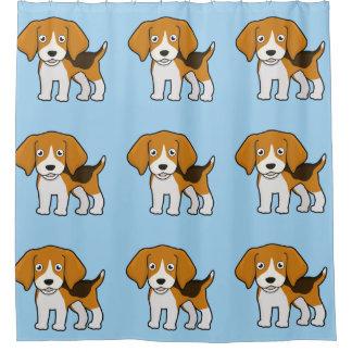 Niedlicher Beagle Duschvorhang
