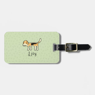 Niedlicher Beagle-Hunde&joy Gekritzel Gepäckanhänger
