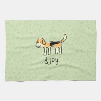 Niedlicher Beagle-Hunde&joy Gekritzel Geschirrtuch