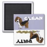 Niedlicher Beagle-sauberer schmutziger Spülmaschin Magnets