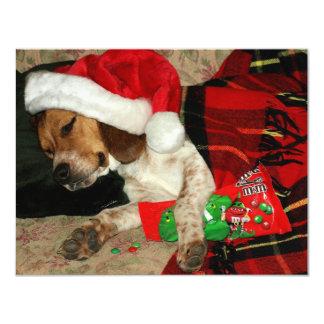 Niedlicher Beagle-Welpen-Snoopy tragende Karte