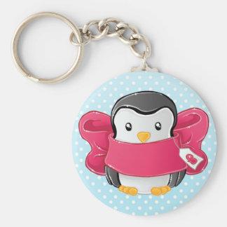 Niedlicher begabter Penguin Schlüsselanhänger