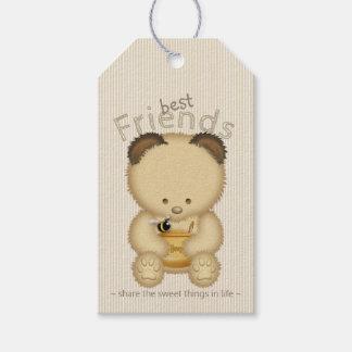 Niedlicher beste Freund-Honig-Bär und Biene Geschenkanhänger