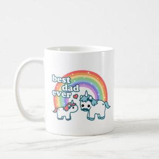 Niedlicher bester Unicorn-Vati überhaupt Kaffeetasse