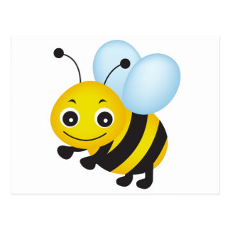 Niedlicher Bienenentwurf Postkarte