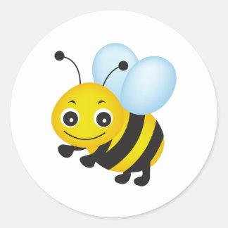 Niedlicher Bienenentwurf Runder Aufkleber