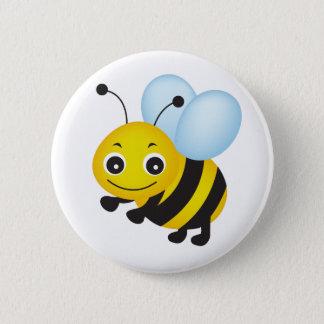 Niedlicher Bienenentwurf Runder Button 5,1 Cm
