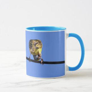 Niedlicher Birdie-blaue Wecker-Tasse Tasse