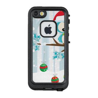 Niedlicher blauer Birdie auf einer Niederlassung LifeProof FRÄ' iPhone SE/5/5s Hülle