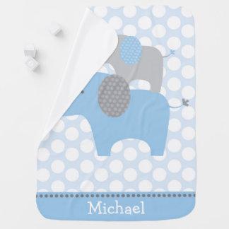 Niedlicher blauer Elefant Babydecke