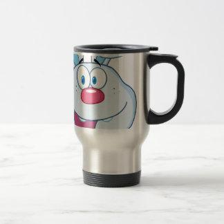 Niedlicher blauer Häschen-Cartoon-Charakter Teetassen