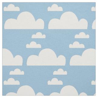Niedlicher blauer Himmel u. punktierte Linien Stoff
