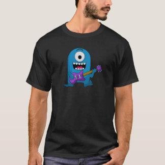 Niedlicher blauer Monster-Gitarrist T-Shirt