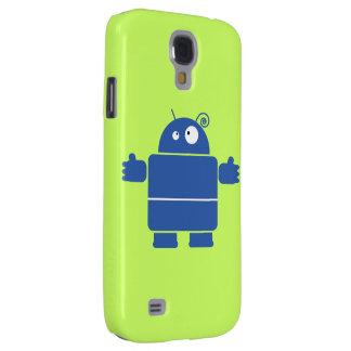 Niedlicher blauer Roboter Galaxy S4 Hülle