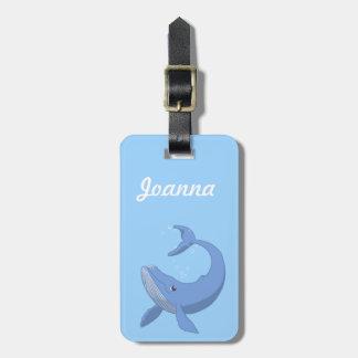 Niedlicher Blauwal Koffer Anhänger