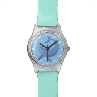 Niedlicher Blauwal Armbanduhr