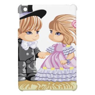 Niedlicher blonder Junge und Mädchen iPad Mini Hülle
