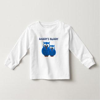 Niedlicher BlueDaddy und Sohn-Eulen-Kleinkind-T - Kleinkinder T-shirt