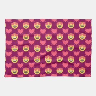 Niedlicher Bonbon in der Liebe Emoji, Herzmuster Handtuch