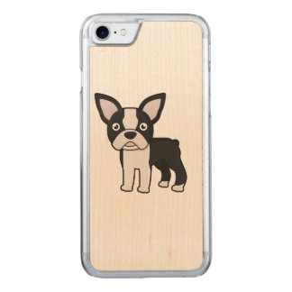 Niedlicher Boston-Terrier Carved iPhone 8/7 Hülle