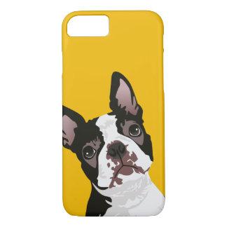Niedlicher Boston-Terrier-Hund für iPhone 8/7 Hülle