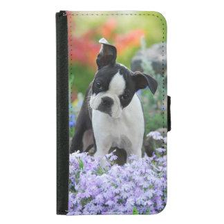 Niedlicher Boston-Terrier-Hundewelpen-TierFoto - Geldbeutel Hülle Für Das Samsung Galaxy S5