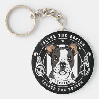 Niedlicher Boston-Terrier Keychain Schlüsselanhänger