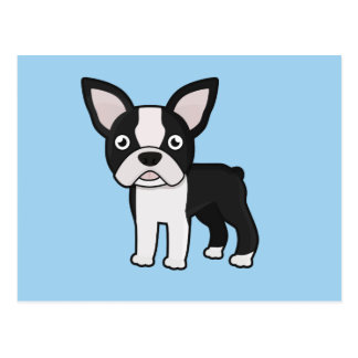 Niedlicher Boston-Terrier Postkarte