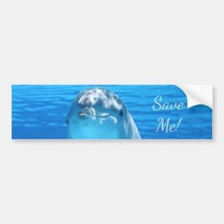 Niedlicher Bottlenose-Delphin Unterwasser Autoaufkleber