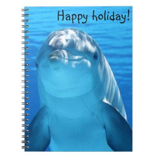 Niedlicher Bottlenose-Delphin Unterwasser Notizblock