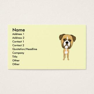 Niedlicher Boxer-HundeCartoon Visitenkarte