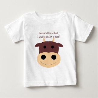 Niedlicher brauner Kuh-Säuglings-T - Shirt