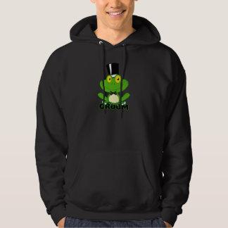 niedlicher Bräutigam-Cartoon-Froschcharakter Hoodie