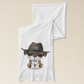 Niedlicher britischer Bulldoggen-Welpen-Sheriff Schal