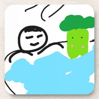 Niedlicher Brokkoli in Hot Springs Untersetzer