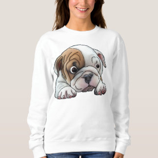 Niedlicher Bulldoggen-Welpe Sweatshirt