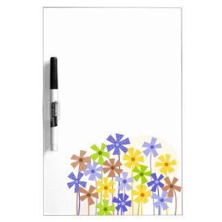 Niedlicher bunter Blumengarten Memoboard