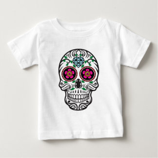 Niedlicher bunter Zucker Skull Dia de Los Muertos Baby T-shirt