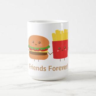 Niedlicher Burger und Fischrogen, Freunde für Kaffeetasse