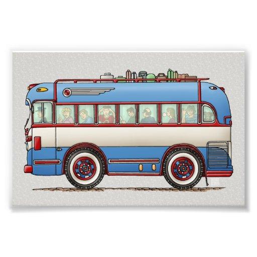 Niedlicher Bus-Ausflug-Bus Photo Drucke