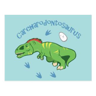 Niedlicher Carcharodontosaurus Postkarte